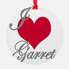 I love (heart) Garret Ornament