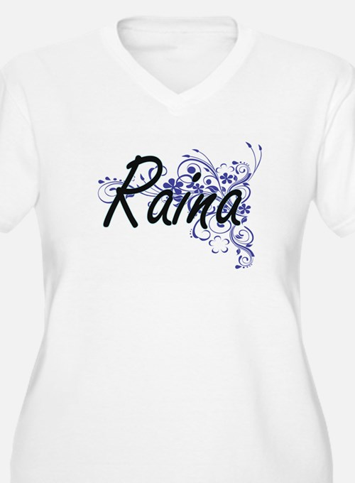 Raina Artistic Name Design with Plus Size T-Shirt