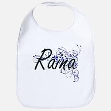 Raina Artistic Name Design with Flowers Bib