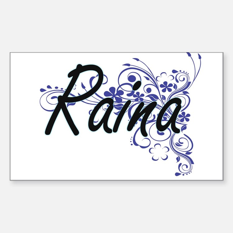 Raina Artistic Name Design with Flowers Decal