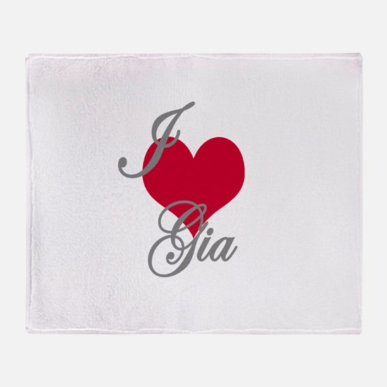 I love (heart) Gia Throw Blanket