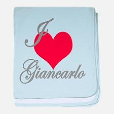 I love (heart) Giancarlo baby blanket