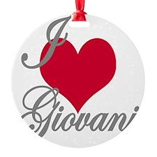 I love (heart) Giovani Ornament