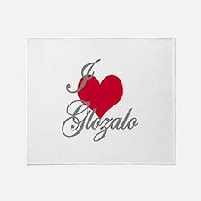 I love (heart) Glozalo Throw Blanket