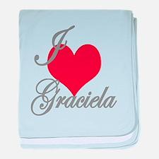 I love (heart) Graciela baby blanket