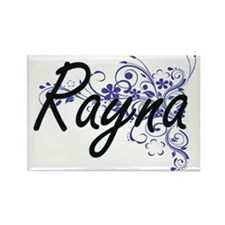 Rayna Artistic Name Design with Flowers Magnets