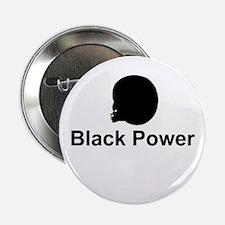Black Power Afro Sistah Button
