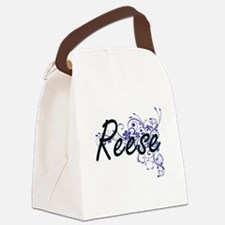 Reese Artistic Name Design with F Canvas Lunch Bag