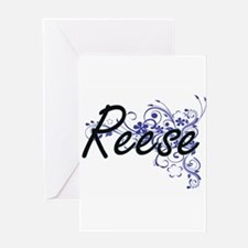 Reese Artistic Name Design with Flo Greeting Cards