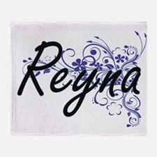 Reyna Artistic Name Design with Flow Throw Blanket