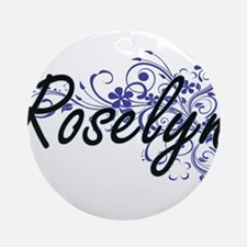 Roselyn Artistic Name Design with F Round Ornament