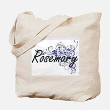 Rosemary Artistic Name Design with Flower Tote Bag