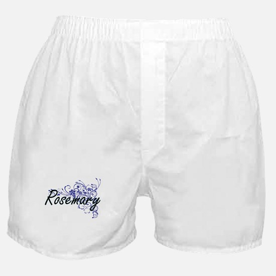 Rosemary Artistic Name Design with Fl Boxer Shorts