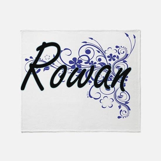 Rowan Artistic Name Design with Flow Throw Blanket