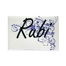 Rubi Artistic Name Design with Flowers Magnets