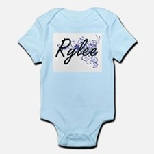 Rylee Artistic Name Design with Flowers Body Suit