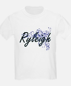 Ryleigh Artistic Name Design with Flowers T-Shirt