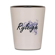 Ryleigh Artistic Name Design with Flowe Shot Glass