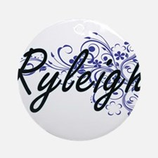 Ryleigh Artistic Name Design with F Round Ornament
