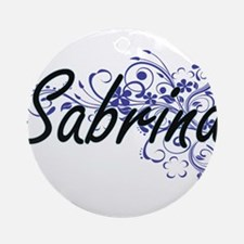 Sabrina Artistic Name Design with F Round Ornament