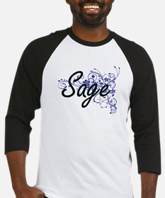 Sage Artistic Name Design with Flo Baseball Jersey