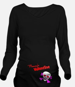 Mommy's Valentine Long Sleeve Maternity T-Shirt