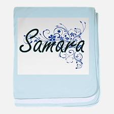 Samara Artistic Name Design with Flow baby blanket