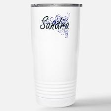 Sandra Artistic Name De Stainless Steel Travel Mug