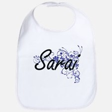 Sarai Artistic Name Design with Flowers Bib