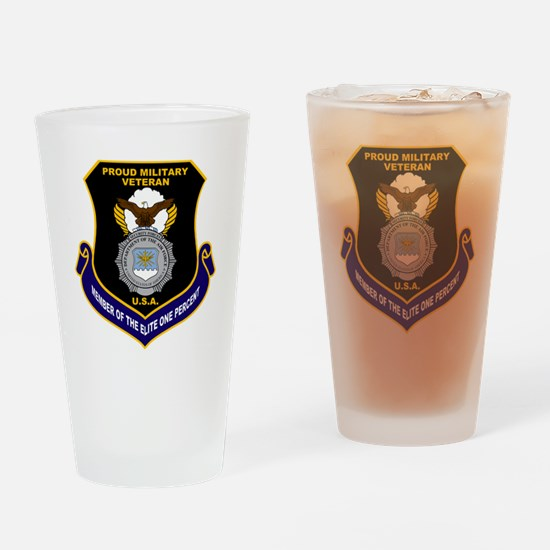 USAF Security Forces Drinking Glass