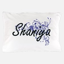 Shaniya Artistic Name Design with Flow Pillow Case