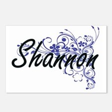 Shannon Artistic Name Des Postcards (Package of 8)