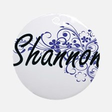 Shannon Artistic Name Design with F Round Ornament