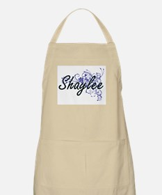 Shaylee Artistic Name Design with Flowers Apron