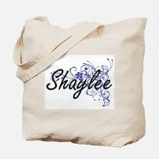 Shaylee Artistic Name Design with Flowers Tote Bag