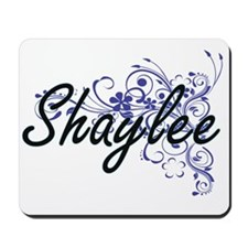 Shaylee Artistic Name Design with Flower Mousepad