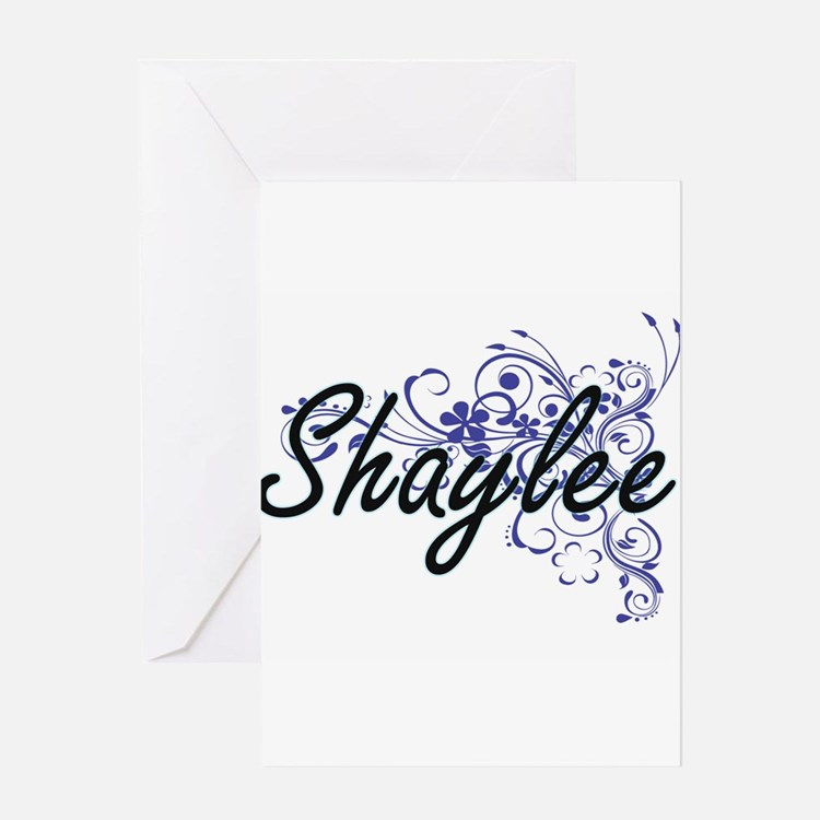 Shaylee Artistic Name Design with F Greeting Cards