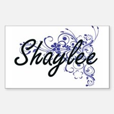Shaylee Artistic Name Design with Flowers Decal