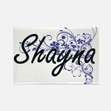 Shayna Artistic Name Design with Flowers Magnets