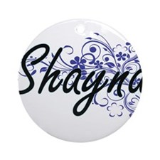 Shayna Artistic Name Design with Fl Round Ornament