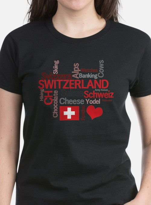 Cute Switzerland flag Tee