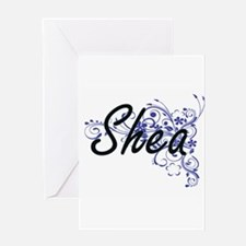 Shea Artistic Name Design with Flow Greeting Cards
