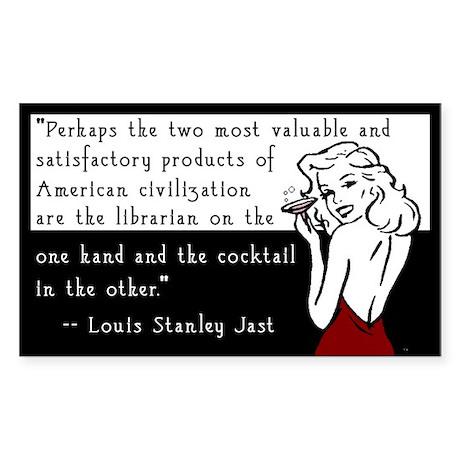 Librarians & Cocktails Sticker (Rectangle)