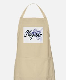 Shyann Artistic Name Design with Flowers Apron