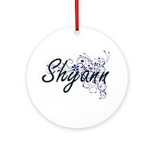 Shyann Artistic Name Design with Fl Round Ornament