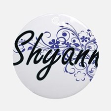 Shyann Artistic Name Design with Fl Round Ornament