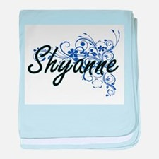 Shyanne Artistic Name Design with Flo baby blanket