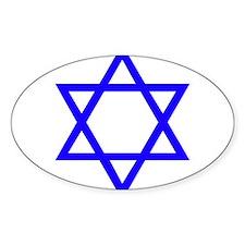 Blue Star of David Decal