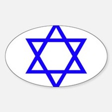 Blue Star of David Decal