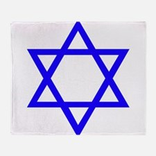 Blue Star of David Throw Blanket